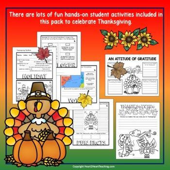 The First Thanksgiving - Thanksgiving Activities & Flip Book