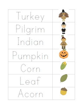 Thanksgiving Literacy Packet