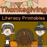 Thanksgiving Literacy Printables