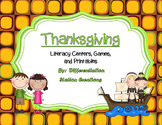 Thanksgiving Literacy: Reading Fluency, ABC Order, Syllables, and More