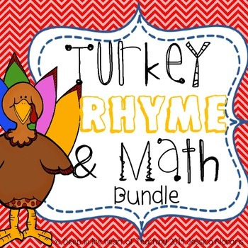Thanksgiving Literacy Rhyme & Math More and Less