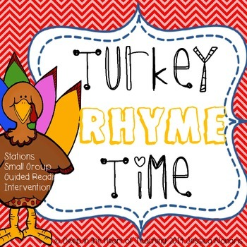 Thanksgiving Literacy Rhyme Station