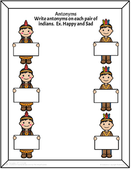 Thanksgiving Literacy Templates