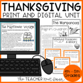 Thanksgiving Literacy Unit for 4th - 5th Grade | Thanksgiving Activities