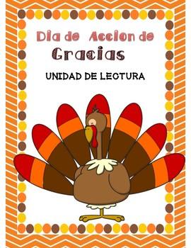 Thanksgiving Literacy Unit Spanish