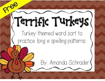 Thanksgiving Literacy/ Word Work Center -FREEBIE!