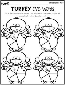 Thanksgiving Literacy Worksheets