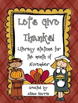 Thanksgiving Literacy Workstations