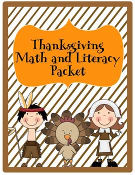 Thanksgiving Literacy and Math Activity