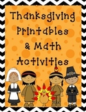 Thanksgiving Literacy and Math Bundle
