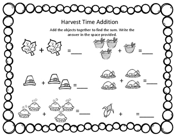 Thanksgiving Literacy and Math Bundle For Kindergarten