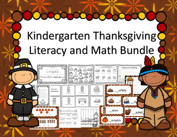 Thanksgiving Literacy and Math Bundle For Kindergarten