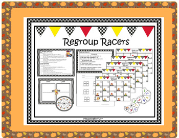 Thanksgiving Literacy and Math Center -Place Value, Regrouping, Suffixes, & more