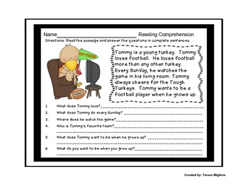 Thanksgiving Literacy and Math Centers {10 Included WITH Workheets}