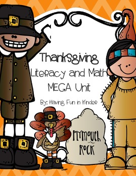 Thanksgiving Literacy and Math Centers MEGA Unit