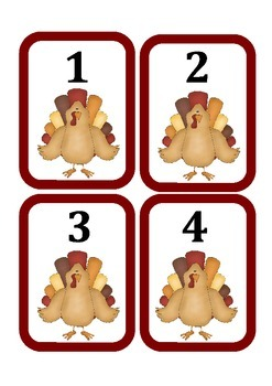 Thanksgiving Literacy and Math Centers for PreK and Kindergarten