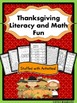 "Thanksgiving Literacy and Math Fun (""Stuffed"" With Common Core Activities)"