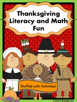 """Thanksgiving Literacy and Math Fun (""""Stuffed"""" With Common"""