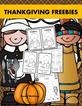 FREE Thanksgiving Literacy and Math Pack Preview