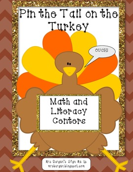 Thanksgiving Literacy and Math   Pin the Tail on the Turkey