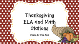 Thanksgiving Literacy and Math Stations