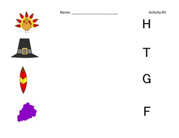 Thanksgiving Literacy and Phonics Packet