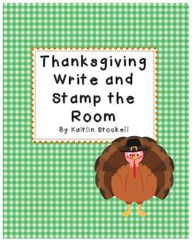 Thanksgiving Literacy Center Activities!
