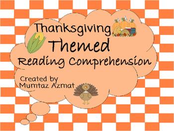 Thanksgiving Reading comprehension Worksheets: