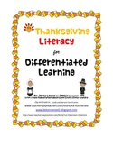 Thanksgiving Literacy for Differentiated Learning