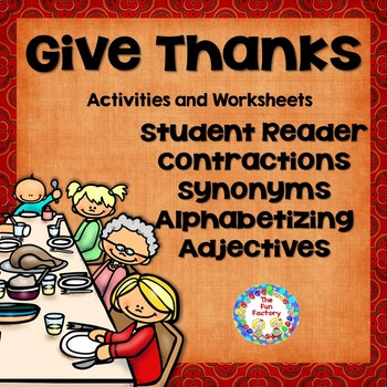 Thanksgiving Literacy for First and Second Grades