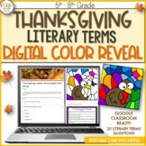 Thanksgiving Literary Terms Digital Color Reveal
