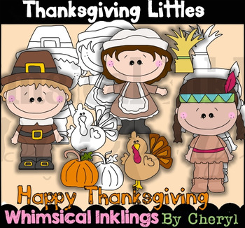 Thanksgiving Littles Clipart Collection