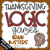 Thanksgiving Logic Games and Brain Busters |Critical Thinking Activities