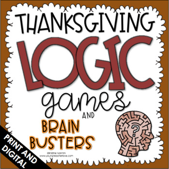 Logic Puzzles - Thanksgiving Activities - Brain Teasers - Fall