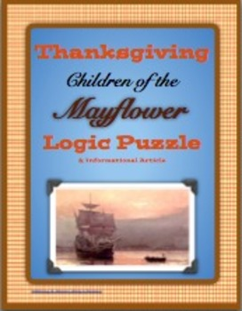 Thanksgiving Logic Puzzle - Children of the Mayflower