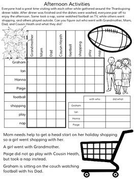 Thanksgiving Logic Puzzles ~ 5 Puzzles ~ No Prep