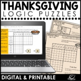 Thanksgiving Logic Puzzles | Google Slides & Printable