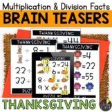 Thanksgiving Logic Puzzles   Multiplication and Division Facts