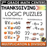 Thanksgiving Logic Puzzles November Math Center