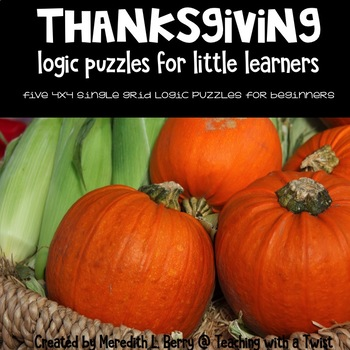 Thanksgiving Logic Puzzles for Beginners