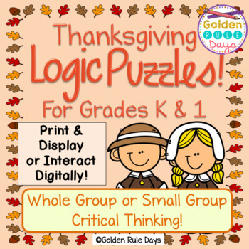 Thanksgiving Logic Puzzles for Kindergarten and First Grade!