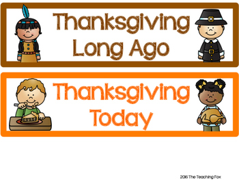 Thanksgiving Long Ago and Today Color Sort
