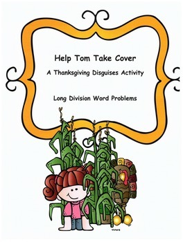 Thanksgiving Math Word Problems Activity: Long Division