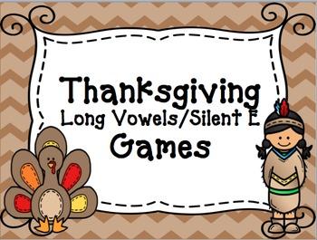 Thanksgiving Long Vowel/Silent E Games