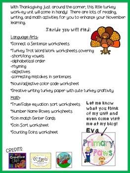 Thanksgiving- Lots of TURKEY Work-ey!