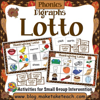Digraphs - Thanksgiving Lotto