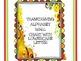 Thanksgiving Alphabet Wall Chart