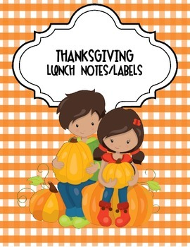 Thanksgiving Lunch Notes/Labels