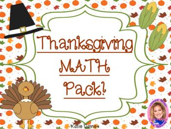 Thanksgiving MATH pack!