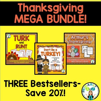 Thanksgiving MEGA BUNDLE {Turk & Runt, Reading Log and Arthur's Thanksgiving! }